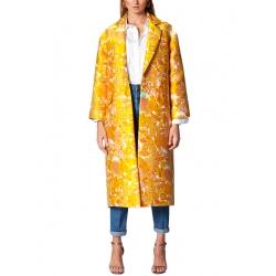 Oversized Floral Jacquard Jacket Ramo Roso