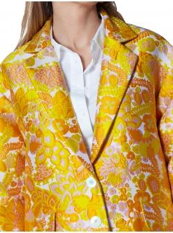 Palton cu imprimeu floral Ramo Roso