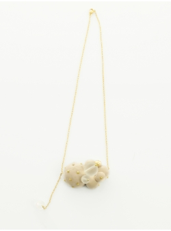 Candy Beige Spheres Necklace Maria Filipescu