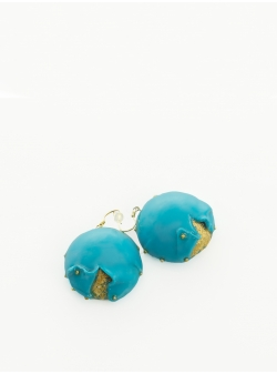 Candy Turquoise Double Layers Earrings Maria Filipescu