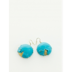 Candy Turquoise Double Layers Earrings Maria Filipescu