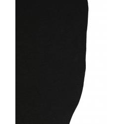 Bluza neagra asimetrica cu sireturi