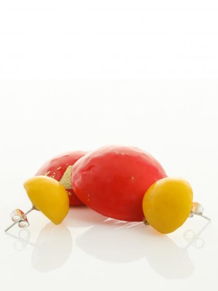 Cercei rosu-galben Candy Maria Filipescu