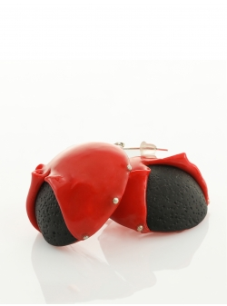 Red Black Candy Earrings Maria Filipescu