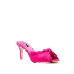 Fuchsia Satin Clogs Shoes Ava Ginissima
