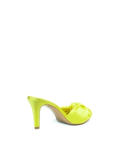 Yellow Satin Clogs Shoes Ginissima