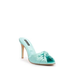 Blue Satin Clogs Shoes Ginissima