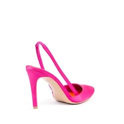 Fuchsia Satin Shoes Alice Ginissima