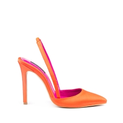 Orange Satine Shoes Rossa Ginissima
