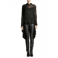 Bluza neagra din jerseu cu sireturi Larisa Dragna