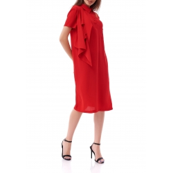 Red Midi Dress Komoda