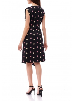 Polka Dots Black Dress Komoda
