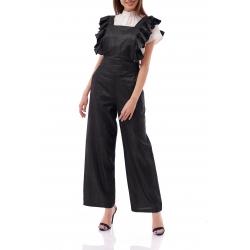 Black Linen Jumpsuit Komoda