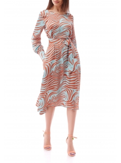 Animal Print Midi Dress Komoda
