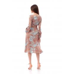 Animal Print Midi Dress Komoda