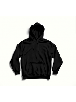 Black oversized hoodie with back print MySimplicated
