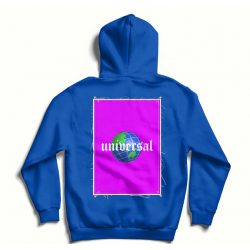 Blue oversized hoodie with back print MySimplicated
