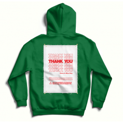 Green oversized hoodie with back print MySimplicated