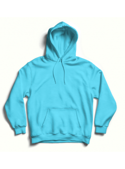 Turquoise oversized hoodie with back print MySimplicated