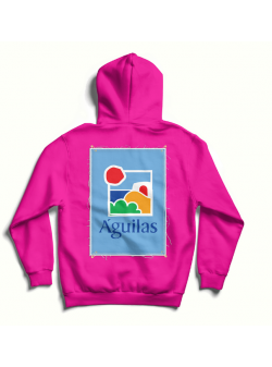 Fuchsia oversized hoodie with back print MySimplicated