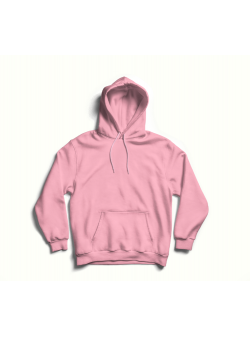 Pink oversized hoodie with back print MySimplicated