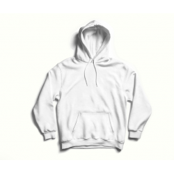 White hoodie with back print MySimplicated