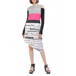 Asymmetrical Dress with digital print Entino