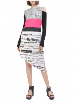 Asymmetrical Dress with digital print Entino
