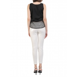 Pantaloni albi din paiete Entino