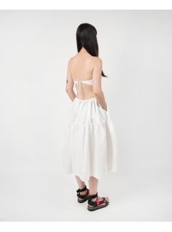 White Dress with Ruffles Ioana Ciolacu