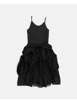 Black Cotton Dress Ioana Ciolacu