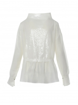 Silk Blouse with sequins Larisa Dragna