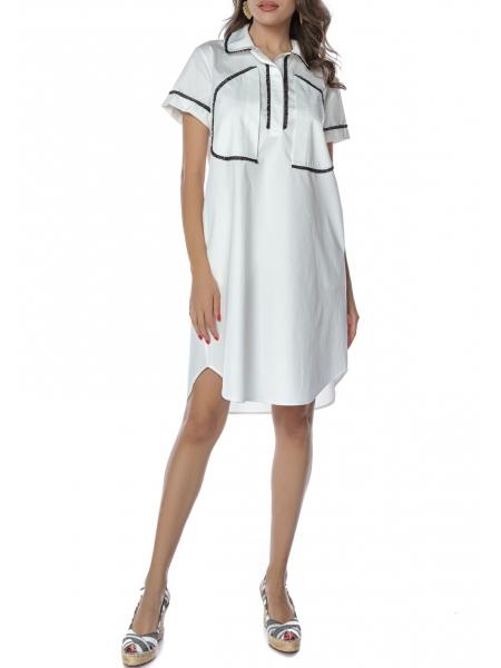 Cotton White Mini Dress Komoda