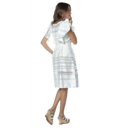 Organza White Dress Komoda