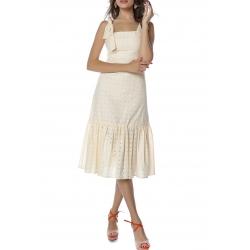 Peach Midi Dress Komoda