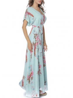 Long dress with floral print Komoda