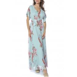 Rochie lunga din voal cu imprimeu floral Komoda