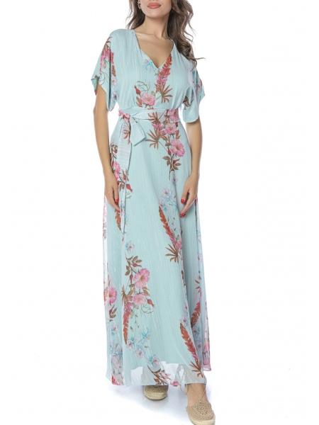 Long dress with floral print Komoda