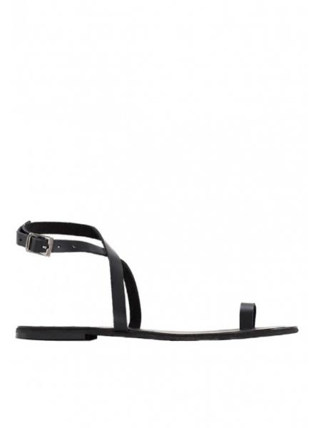 Black leather sandals Meekee