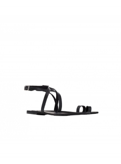 Black leather sandals Meekee