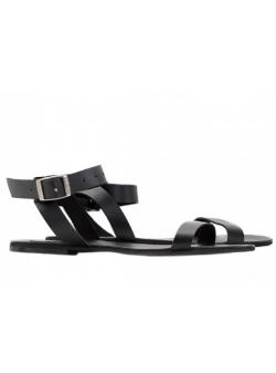 Sandale negre Stripe Meekee