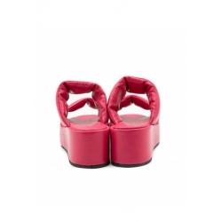 Papuci corai cu talpa inalta Peony Meekee