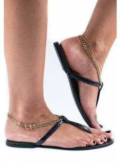 Snake Leather Sandals Meekee