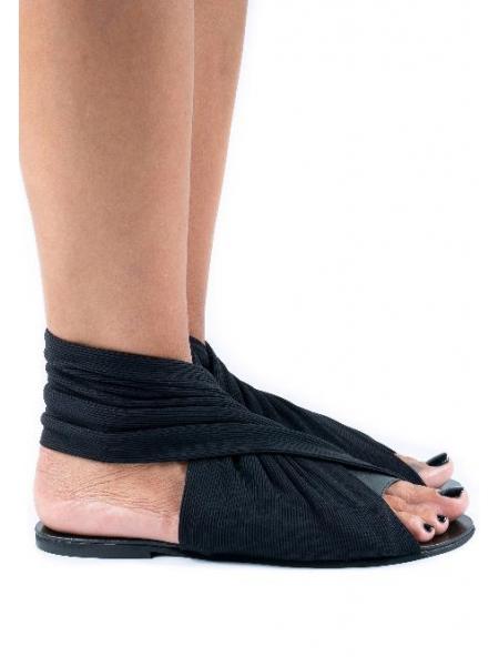 Sandale negre Muff Meekee