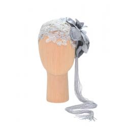 Lace Accesory Silver Flapper DeCorina Hats