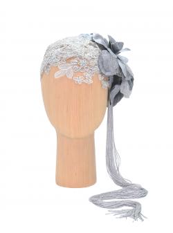 Accesoriu din dantela Silver Flapper DeCorina Hats