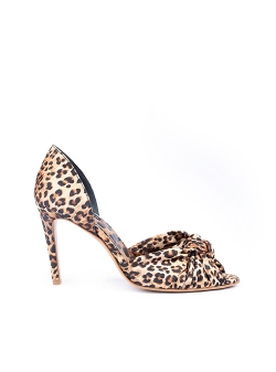 Sandale cu toc animal print Ginissima