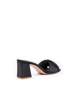 Black Satin Clogs Ginissima