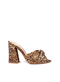 Animal Print Satin Clogs Ginissima