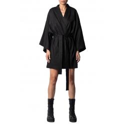 Black linen kimono Isso